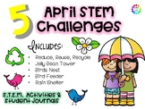 April Spring STEM - Easter, Earth Day, Spring and More! 5 Activities