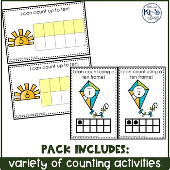 April / Spring Themed Math Centers for Special Needs, ECE or Kindergarten