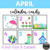 April Spring Time Calendar Cards (3 INCH)