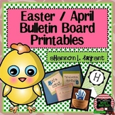 April, Spring, and Easter Bulletin Board Craftivity and Wr