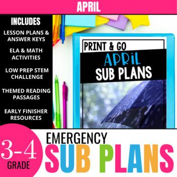 April Sub Plans  (Print & Go)