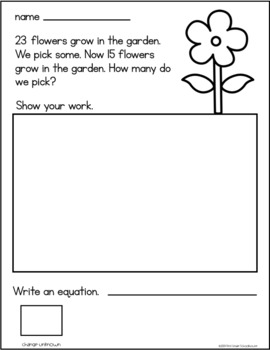 April Subtraction Word Problems First Grade