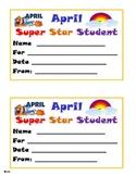 April Super Star Student Award