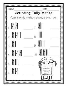 April Tally Marks FREEBIE! Kindergarten and Grade 1