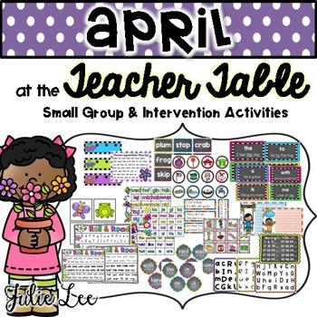 April Teacher Table Kindergarten Intervention and Small Group Ideas