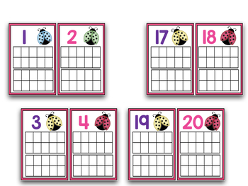 Ten Frames!  Numbers And Counting For April!