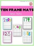April Ten Frame Mats 1-20