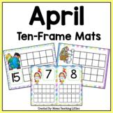April Ten-Frame Mats Numbers 1-20