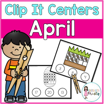 April Tens Frame Clip It Centers