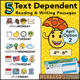 April Text Dependent Reading - Text Dependent Writing Prompts (Option 2)