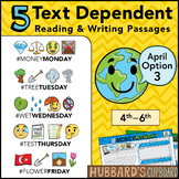 April Text Dependent Reading - Text Dependent Writing Prompts (Option 3)