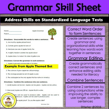 April Speech Therapy Theme-Based Vocabulary and Grammar Worksheets