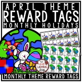 April Theme Reward Tags - Classroom Management Reward Coupon Tags