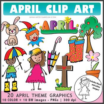 April Theme Clip Art