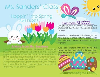 April Theme + Easter + Newsletter Template