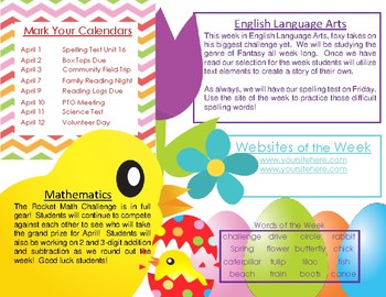 April Theme + Newsletter Bundle (Includes 4 different newsletters)