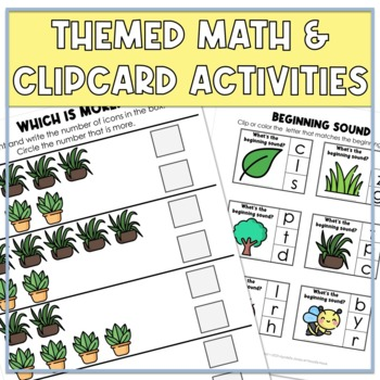 April Themed Adapted Unit for Autism Units or Early Elem. (Math, ELA & Writing)