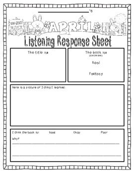 April-Themed {Differentiated} Listening Response--FULL version