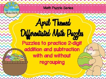 April Themed Differentiated Math Puzzles