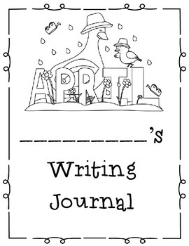 April Themed Home or Classroom Writing Journal