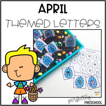 April Themed Sensory Bin Letters