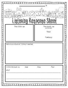 April-Themed Listening Response--SAMPLE version