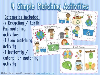 April Themed Matching & Sorting Task Boxes/ Centers/ File Folders