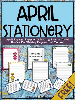 April Themed Stationery {FREEBIE}