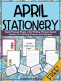 April Themed Stationery {FREEBIE}