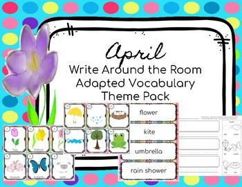 April Themed Vocabulary Write Around the Room