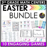Easter Math Games - Easter Third Grade Math Centers BUNDLE