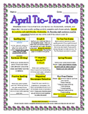 April Tic-Tac-Toe Actitivies Packet