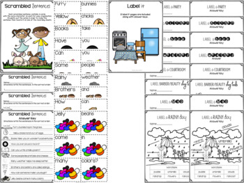 April Time! Writing and Labeling Packet