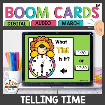 April Time to the hour and half hour Boom Cards