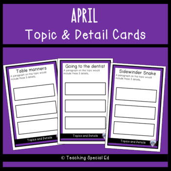 April Topic and Detail Cards