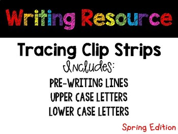 April Tracing Strips