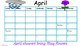 April Traditional School Calendar and Newsletter