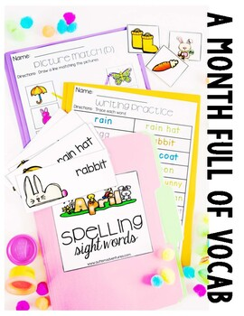 April Vocabulary Unit-  for Students with Special Needs