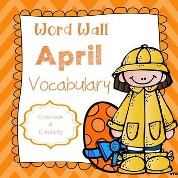 April Vocabulary Words