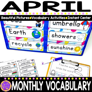 April Vocabulary Words (spring; easter; Earth; recycle)