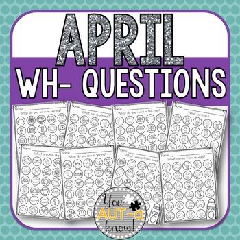 April WH- Question Dauber Pages