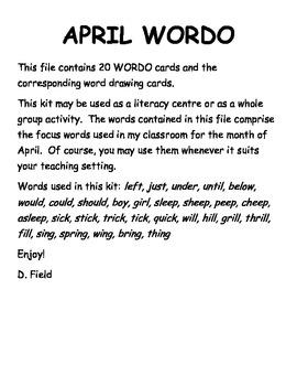 April WORDO