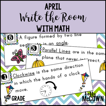 April WRITE THE ROOM with Math - 4th Grade