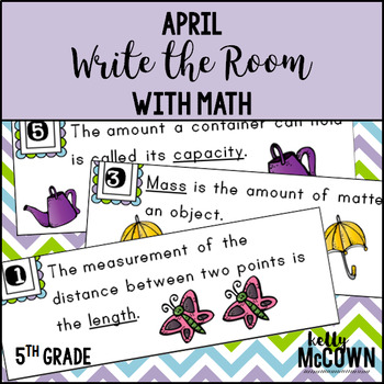 April WRITE THE ROOM with Math - 5th Grade