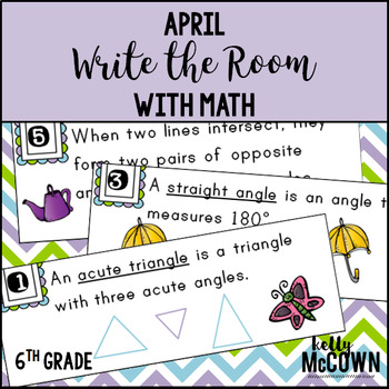 April WRITE THE ROOM with Math - 6th Grade