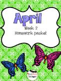 April Week 2 Homework Packet