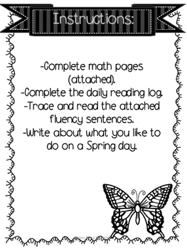April Week 2 Homework Packet