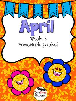 April Week 3 Homework Packet