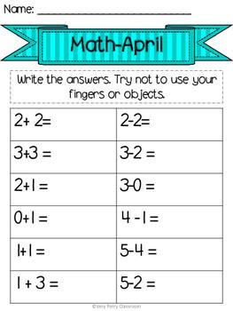 April Week 4 Homework Packet