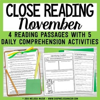 Close Reading - November